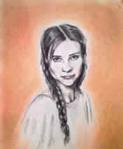 """Portrait de la """"princesse..dame au linceul"""""""