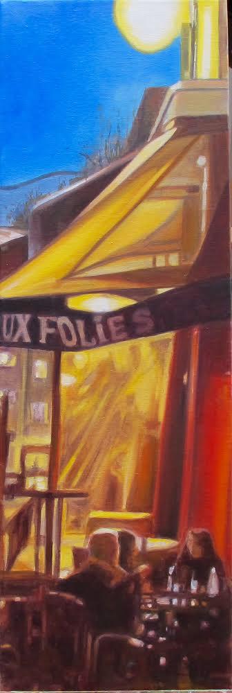 «Soirée d'été» #peinture #huile #tableaux 60x20cm