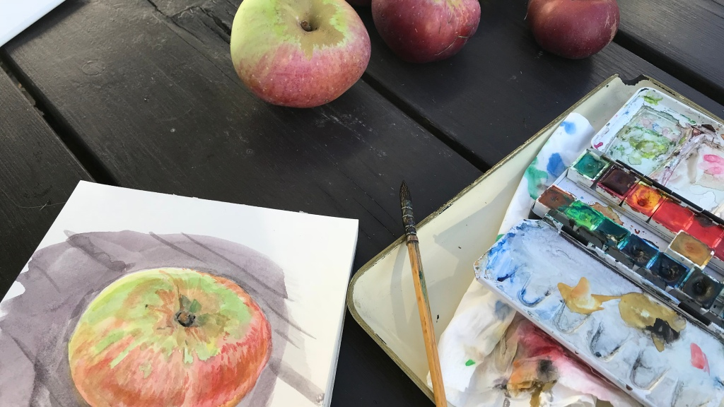 #atelier #aquarelle #artwork #fruit #saison