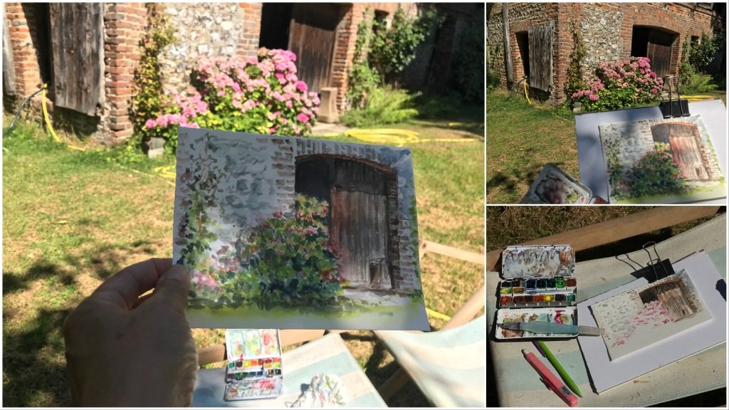 #aquarelle #pleinair #atelier #artwork #méditation #exercice