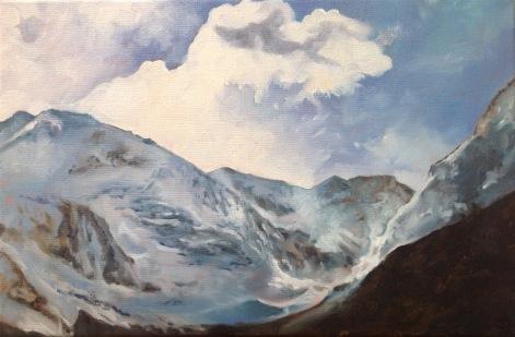 Le mont Pourri 2 #peinture