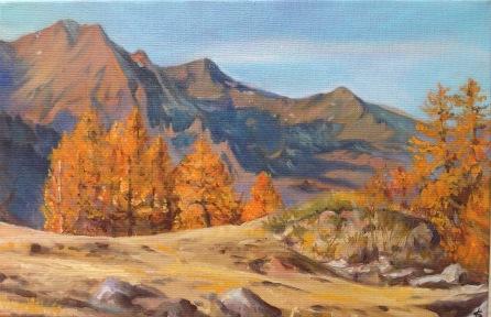 Le Monal au couleurs d'automne #peinture