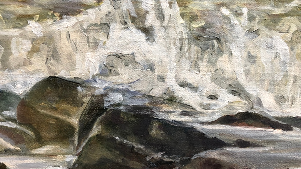 #oilpainting #peintureàlhuile #artwork #littoral #tableau