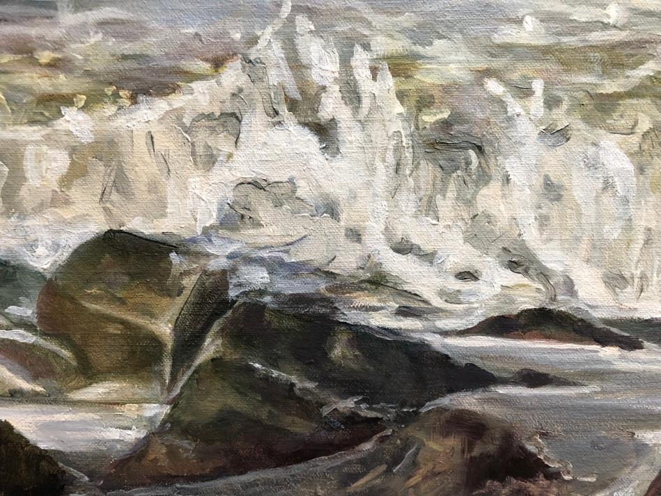 #oilpainting #peintureàlhuile #artwork #littoral #tableau
