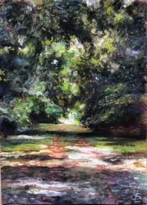 «Allée forestière» #pastelsec