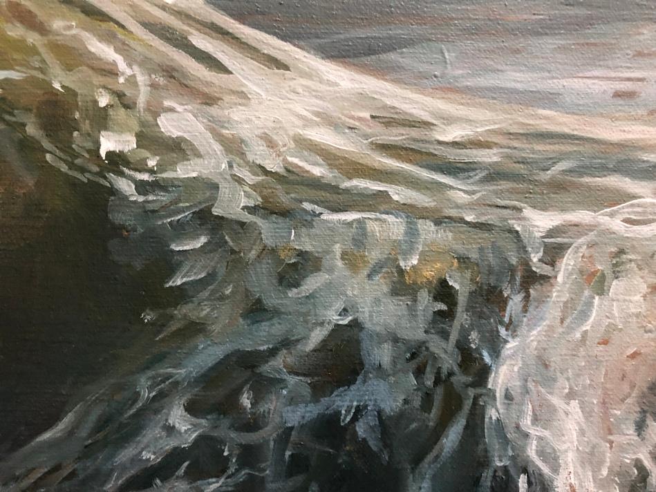 «La vague» détail #peinture #huile #tableau