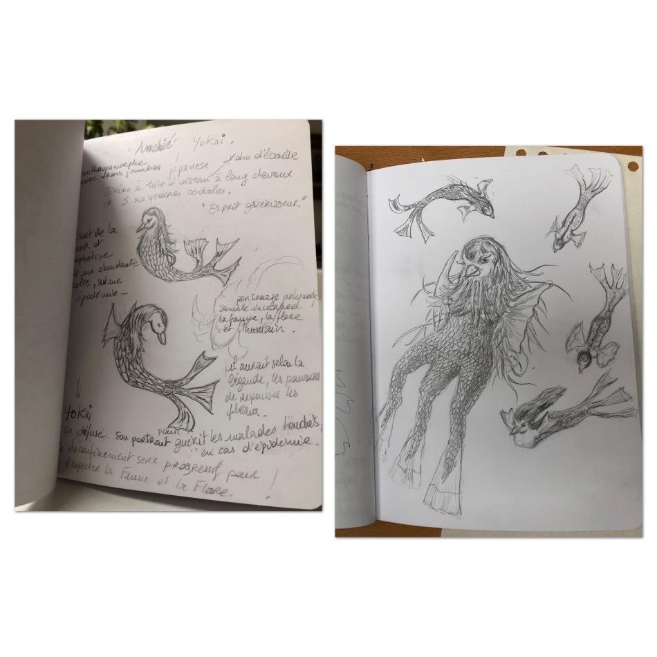 #yōkai #dessin #carnet #recherche